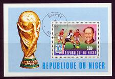 NIGER 1977 SOCCER WORLD CUP ARGENTINA '78 SOUVENIR SHEET SCOTT 417