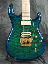 CARVIN DC727C 7-STRING QUILTED MAPLE FLOYD ROSE DRAGONBURST GUITAR DC 727 C