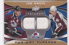 2008 08-09 Upper Deck Trilogy Two-Way Threads #2WSK Joe Sakic dual jersey