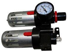 Druckluft Filter Öler Werkzeug Wasserabscheider Abscheider mit Druckuhr 0-10 Bar