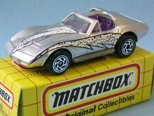 Matchbox Corvette T Roof Silver Body Toy Model Muscle Car in Grid Box 65mm