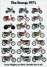 1971 HONDA LINE UP FULL LINE VINTAGE MOTORCYCLE POSTER 36x25