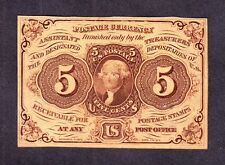 "Us 5c Fractional Currency Note 1st Issue w/ ""Abc"" Fr 1230 Cu -002"