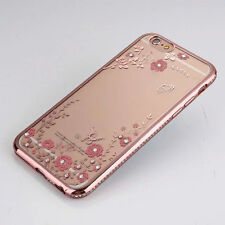 Luxury Clear Crystal Diamond Soft TPU Silicone Phone Case Cover For iPhone 7 6S