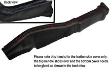 RED STITCH LEATHER HANDBRAKE BOOT SKIN COVERS FITS CORVETTE C4
