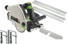 Festool Circular saw TS 55 REQ 2xGuides 2xConnector Clamps Systainer Blade 110V