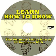 Learn How To Draw (60 Vintage Drawing & Sketching Books) on DVD