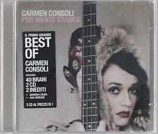 CARMEN CONSOLI PER NIENTE STANCA - 2 CD BATTIATO SIGILLATO!!!