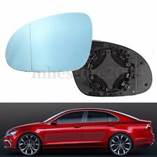 Left Diver Side Heated Wing Mirror Blue Tinted Glass For VW MK5 Passat B6 B5.5