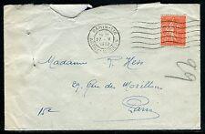 France - Semeuse perforé CCF sur enveloppe en 1932 de Paris  réf F186