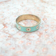 Gold tone Flower Enamel Ring * ROBIN'S EGG BLUE * SWEET * CHIC * LOVELY!