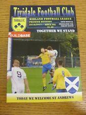 06/09/2016 Tividale v St Andrews  . Footy Progs (aka bobfrankandelvis) are pleas