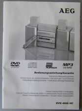 Anleitung Instruction Manual AEG DVD 4606 HC Home Cinema System