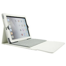 White Leather Stand Case With Wireless Bluetooth Keyboard For Apple iPad 4 3 2