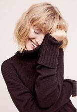 Anthropologie Fireside Turtleneck by Moth Black Sz XS Sold Out!  NWT