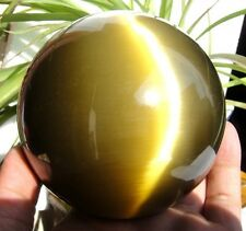 Hot Sell ASIAN QUARTZ TIGER EYE CRYSTAL HEALING BALL SPHERE 80MM + STAND