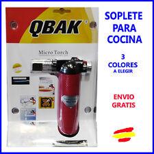 Soplete de gas para COCINA  repostería FLAMBEAR  recargable QBAK 3 COLORES
