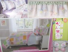 KIDS EXPRESSIONS DRAGONFLIES BUTTERFLIES FULL QUILT BED SET PILLOW VALANCE 11 PC