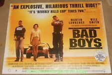 BAD BOYS MOVIE POSTER Original DS British Quad 30x40 WILL SMITH MARTIN LAWRENCE
