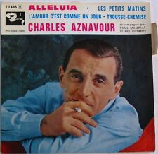 CHARLES AZNAVOUR (EP 45 Tours)  ALLELUIA   PAUL MAURIAT
