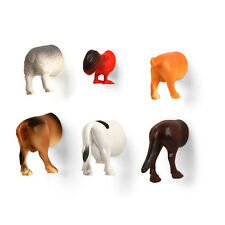 Kikkerland Farm Butts Animal Magnets Set Of 6