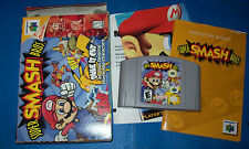 Super Smash Bros. (Nintendo 64, N64) Complete CIB Box Manual Cart