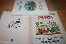SIGNED 1955 JOSEF LADA DETEM BOOK - CHILDREN Czech classic illustrator artist
