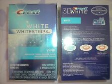 lot of 2 Crest 3D White Whitestrips Vivid 12 Treatments 24 Strips total, Sealed