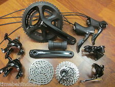 SHIMANO BLACK 105 5800 175 50/34 11-28 GROUP GROUPPO BUILD KIT 11 SPEED PRESSFIT