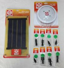 Rechargeable Solar Light & Panel Kit - Ideal for Camping, Festival - Garden Shed
