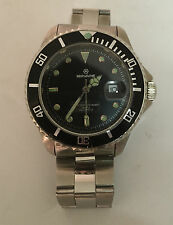 MIRVAINE DIVERS WATCH WITH BLACK FACE IDEAL  GIFT