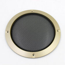 "1PC Car 6.5"" Speaker Panel Coaxial Steel Sub Mesh Grills Cover 185mm Gold"