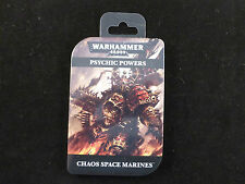 Warhammer 40K Chaos Space Marines Psychic Powers Cards Pack (Sealed)