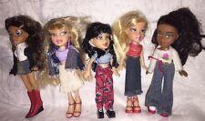 Lot Of 5 Lil Bratz Dolls Jade Cloe Yasmin Sasha With Clothes & Shoes