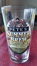 Petes Summer Brew Pint Beer Glass Micro Brewery