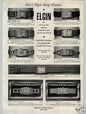1936 PAPER AD Elgin Wrist Watch Yellow Gold Rectangle Face Dr Doctor Strap Model