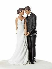 Wedding Bliss African American Wedding Cake Topper Figurine