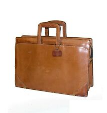 Schlesinger Brothers California Saddle Leather Retractable Handles Lawyer Brief