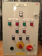 7.5kw SUMP PUMP CONTROL PANEL DUAL MOTOR DUTY/STANDBY FLOAT SWITCH CONTROLLED