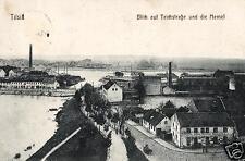 4889/ Foto AK, Tilsit Opr., Blick auf Teichstraße und Memel, 1915