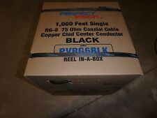 1000 ' foot box of RG6 Perfect Vision Black Coaxial Cable Dishnetwork, Directv
