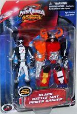 """Power Rangers Operation Overdrive 4"""" Black Battle Ranger to Megazord New 2006"""