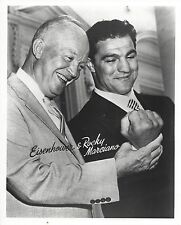 ROCKY MARCIANO & PRESIDENT DWIGHT D EISENHOWER 8X10 PHOTO BOXING PICTURE