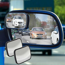 2 X ADJUSTABLE WIDE ANGLE CAR VAN TRUCK BLIND SPOT MIRRORS WING MIRROR ALL RIDE