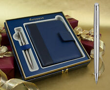 Waterman Hemisphere Ballpoint Pen - Stainless Steel Chrome Trim Gift Set