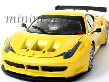 HOT WHEELS BCJ78 FERRARI 458 ITALIA GT2 LAUNCH VERSION 1/18 YELLOW TRISTRATO