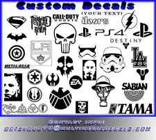Qty for 1 Custom Decals for your tablets, phones, Cars, Laptop 5' or Smaller