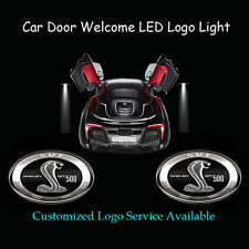 2x Car Door Projector Ghost Shadow LED Logo Light for Ford Mustang Shelby GT500