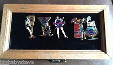 Hard Rock Hotel LAS VEGAS 1997 Cocktail Girl Pin Set Oak Display Case Numbered!