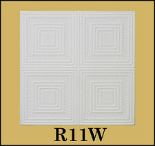 Decorative Texture Ceiling Tiles Glue UP - R11W On SALE